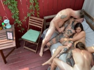 Wolf Hudson in Bisexual Foursome with Kasey Warner, Spittle and Peter Hooke