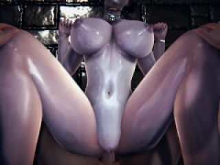 3D Hentai: ROUGH SEX WITH Lady Dimitrescu IN THE GARDEN (Resident Evil 8: Village)