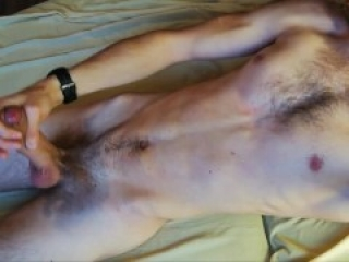 I think about you and jerk off my fat cock, imagining how you will suck it